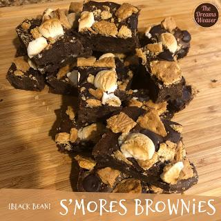 {black bean} S'mores Brownies ~ The Dreams Weaver