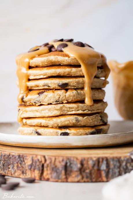 Gluten-Free Vegan Peanut Butter Pancakes