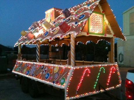 Our Christmas Parade Float Year 2 Gingerbread House ...