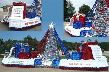 These revamped vehicles are known as floats. Red white and blue thank you for all you do. (With images ...