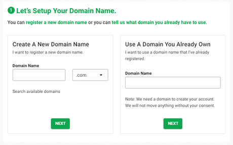 GreenGeeks Free Domain Registration