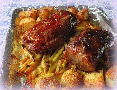Sheet Pan Chinese Pork Tenderloin