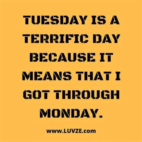 Tuesday is just another word for monday. 140 Funny and Happy Monday, Tuesday, Wednesday & Thursday ...