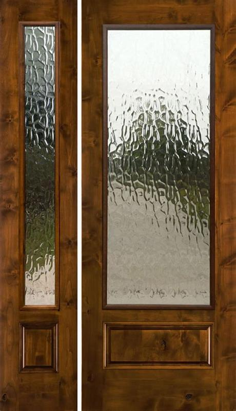 Product title american wood co. Rustic Glass Doors - Full lite entry door - Knotty Alder 1 ...