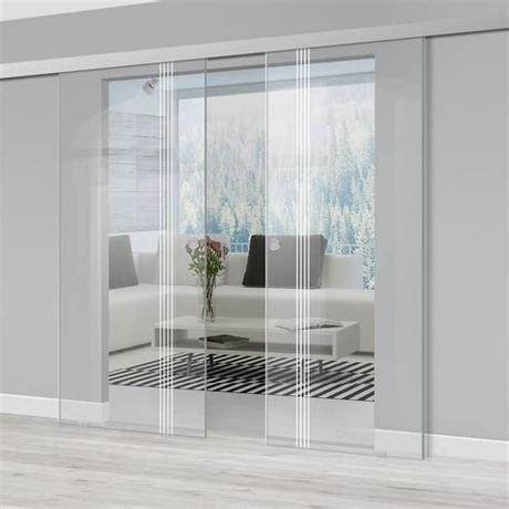 A glass front door allows natural light to filter into your home, which is the main reason this style is ever popular. Double Glass Sliding Door - Juniper 8mm Clear Glass ...