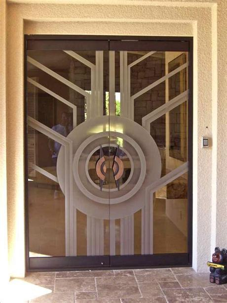 Double sliding glass barn doors Contemporary All Glass Doors create a Sleek Entrance ...