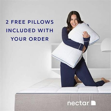Made without ozone depleters made without pbdes, tdcpp, or tcep (tris) flame retardants Nectar TwinXL Mattress + 2 Pillows Included - Gel Memory ...