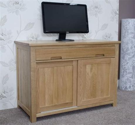 14 march 1978 contact address: Nero solid oak furniture hidden home office computer desk ...