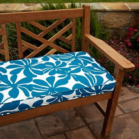 Cushion factory custom make outdoor cushions of all specifications. Penelope Blue 60-inch Outdoor Bench Cushion - 14234803 ...