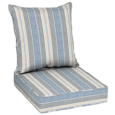 Hamptons outdoor lounge chair replacement cushions. Better Homes & Gardens Hickory Stripe 48 x 24 in. Outdoor ...