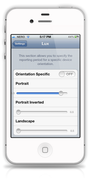 Edit Ambient Light Sensor(ALS) Settings On iPhone With Lux