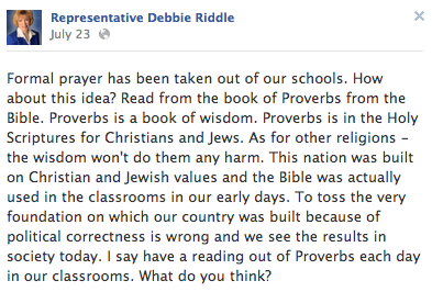 A Texas Republican (Who Else?) Thinks Schools Need Mandatory Bible Reading