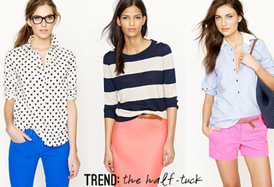half tuck trend thestyleaisleThe Tucked In Fashion Trend
