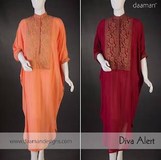 Daaman Eid Dresses  for ladies 2012