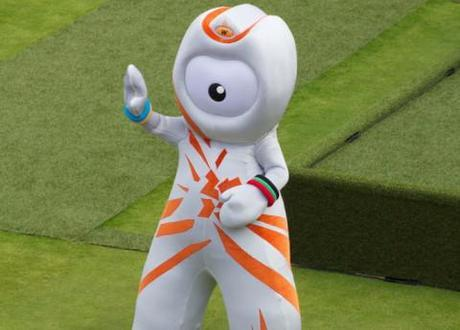 Even the London 2012 Olympic mascot isn't as excited as this lady is about the Games.