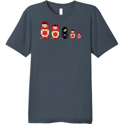 nesting dolls, original art, funny, t-shirt