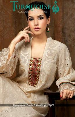 Turquoise Latest Eid Collection For Women 2012