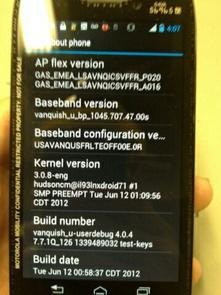 Photos of Motorola RAZR HD  International Version Revealed
