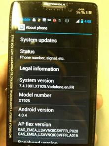 Motorola RAZR HD  International Version 1