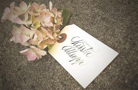 Calligraphy for Kirstie's vintage home wedding