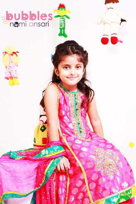 Bubbles Ready to Wear Children Dresses for Eid 2012 by Nomi Ansari an Endearing Apparels for Nippers