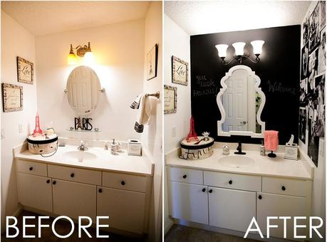 The land of Lowes. // Guest bathroom makeover