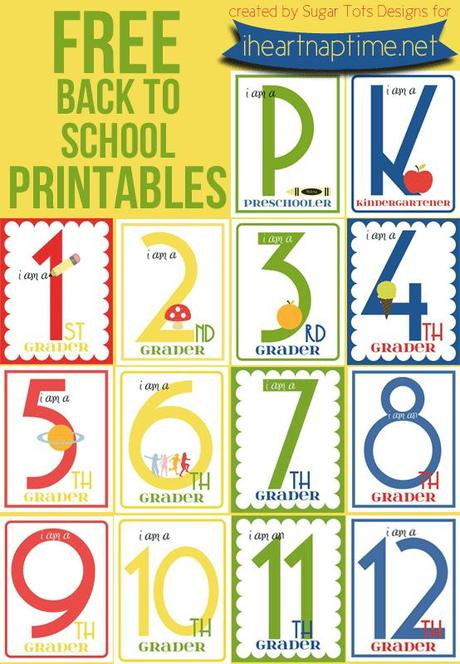 Free Printable Friday: Back to School