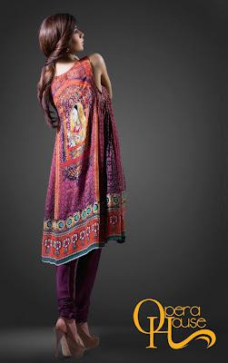 Digital prints collection 2012 of opera house by arjumand for Bano market faisalabad dresses