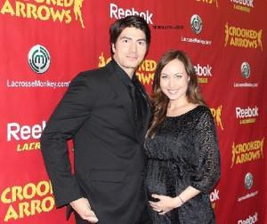 Courtney Ford and Brandon Routh