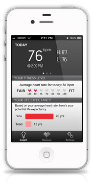 Measure Your Heart-Rate With Your iPhone Using Its Front Facing Camera