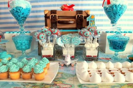 Aeroplane Themed 1st Birthday by Candy Queen Buffet