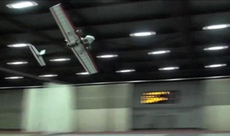 Autonomous robotic plane flies indoors without guidance or GPS