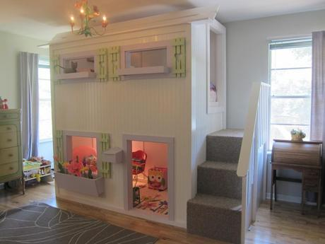 Playhouse loft bed for your children