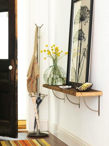 tips for creating an entryway (without an entryway!)