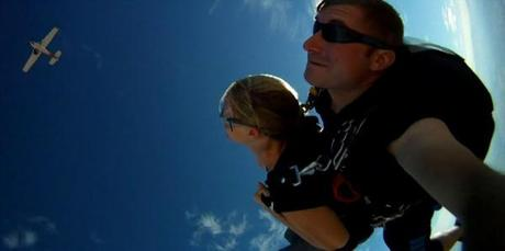 Skydive, tandem jump, first jump, adventure travel, Moab