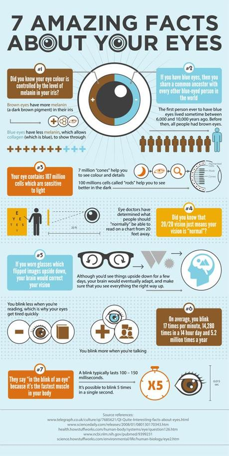 7 Incredible Eye Facts Infographic