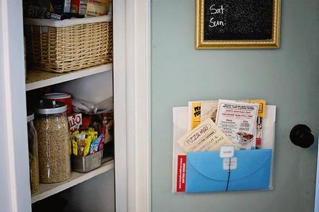 my pantry door...the inside...