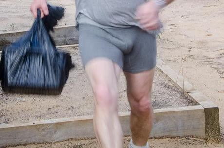 running with underpants on