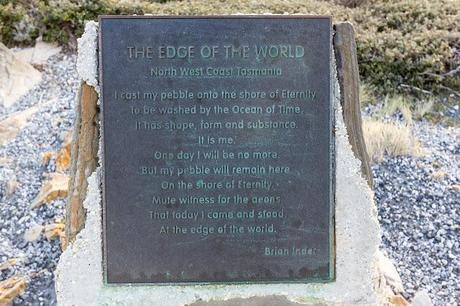the edge of the world sign at gardiner point