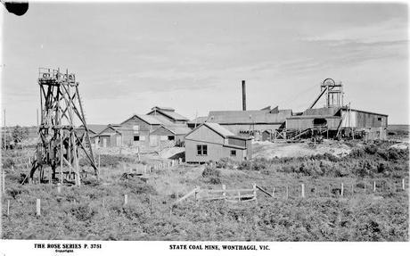 state library of victoria photo of wonthaggi coal mine