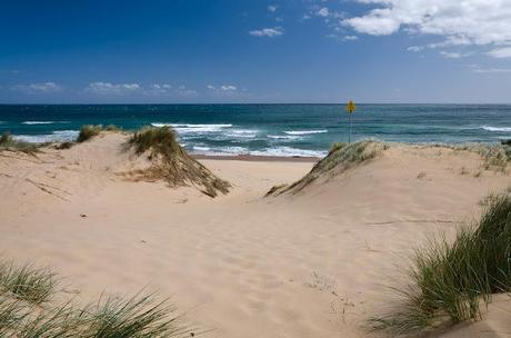 sand dune at baxters beach