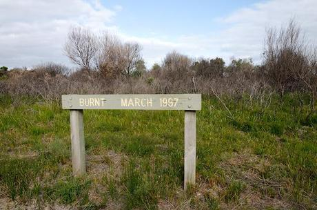 sign saying burnt march 1997
