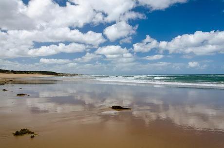 low tide at kilcunda beach