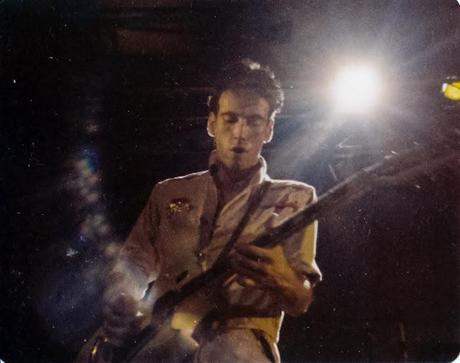 mick jones of the clash at festival hall melbourne 1982