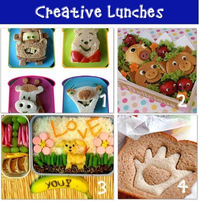 activities for kids 12 Creative School Lunches