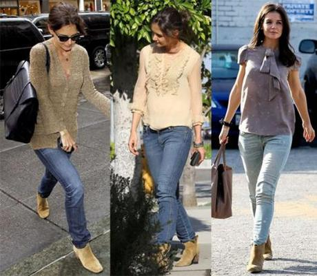 Katie Holmes' Boots Qualify Her As Homeless, Daily Mail Says