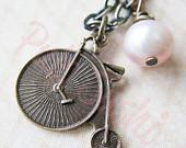 Vintage Penny Farthing Charm Necklace - pulpsushi
