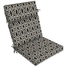 The cushion is 21w x 44l x 4.5t and has 4 sets. Ebern Designs Trellis High Back Outdoor Dining Chair Cushion Wayfair