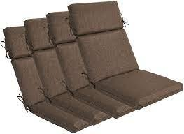 Designed for an outdoor use. Amazon Com Bossima Indoor Outdoor High Back Chair Cushions Replacement Patio Chair Seat Cushions Set Of 4 Brown Garden Outdoor