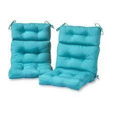 These outdoor replacement cushions give your patio set an upgrade while still maintaining the same style you know and love. Greendale Home Fashions Solid Teal Outdoor High Back Dining Chair Cushion 2 Pack Oc6809s2 Teal The Home Depot